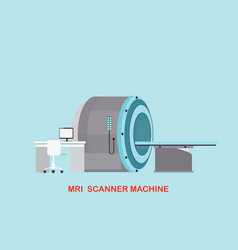 Mri scanner machine technology and diagnostics vector