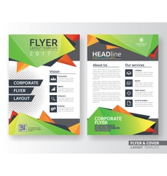 Multipurpose corporate business flyer layout vector