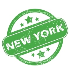 New York green stamp vector image