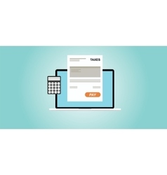 Online payment taxes vector