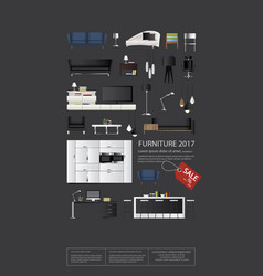poster furniture sale vector image