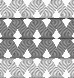 Ribbons gray shades crosses grid pattern vector image