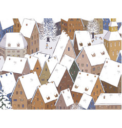 roofs under the snow vector image