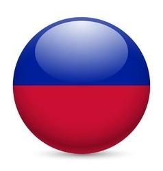 Round glossy icon of haiti vector