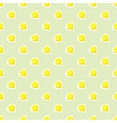seamless pattern background with lemon vector image