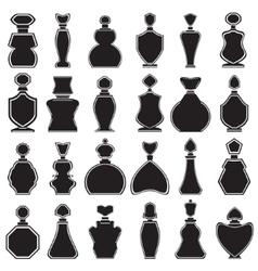 set different type perfume bottles vector image