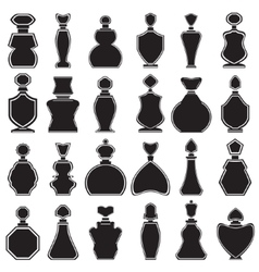 Set of different type of perfume bottles vector image