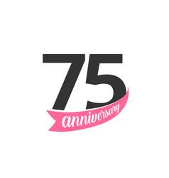 Seventy fifth anniversary logo number 75 vector