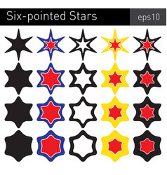 six-pointed stars vector image