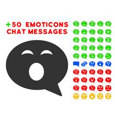 Sleepy smiley message icon with bonus smiley vector