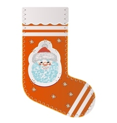 Sock for gifts from santa claus vector