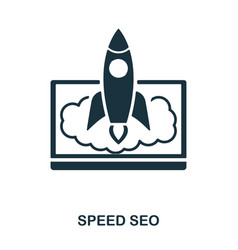 speed seo icon line style icon design ui vector image