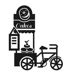 street cake kiosk icon simple style vector image