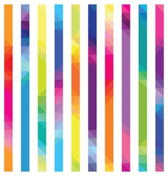strips with color transition from triangles a vector image