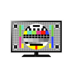test screen on modern lcd television vector image