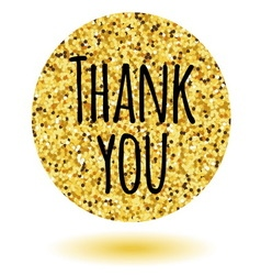 Thank you card Template for your design vector image