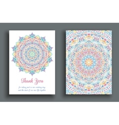 Thank You Note Luxury Ornament vector image
