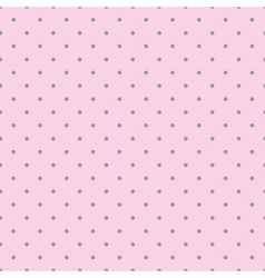 Tile pattern with grey polka dots pink background vector image