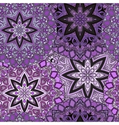 Violet seamless design in oriental style Stellar vector image