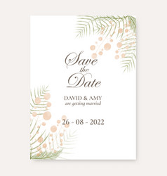 Watercolour floral save date design vector