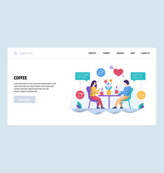 web site design template couple on a date vector image