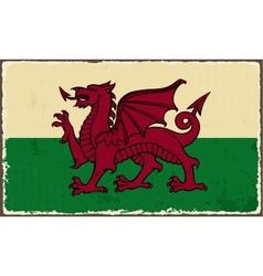 Welsh grunge flag vector