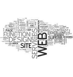 What makes a web design superb text word cloud vector