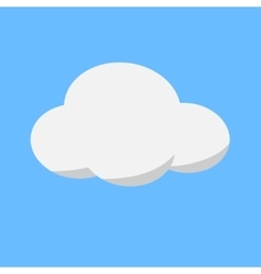 white cloud weather icon on cyan background vector image