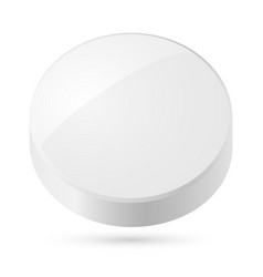 White disk isolated on white background vector