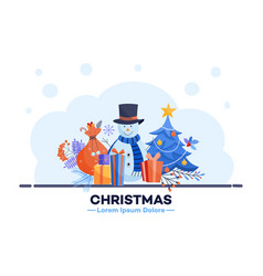 winter sale poster christmas vector image