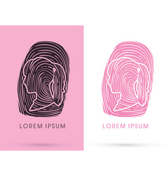 Woman fingerprint vector