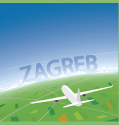 Zagreb flight destination vector