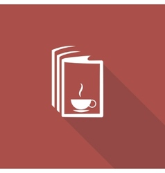 Book and a cup of tea icon vector image vector image