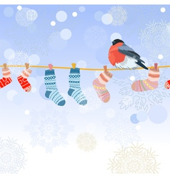 christmas clothes line vector image vector image