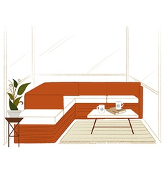 Modern Home Lounge vector image