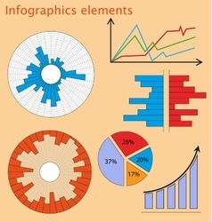 Set of elements for business infographic - vector image