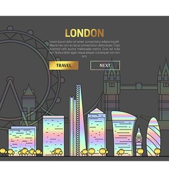 London england view street with sights in hologram vector