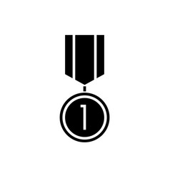 medal icon black sign on vector image vector image