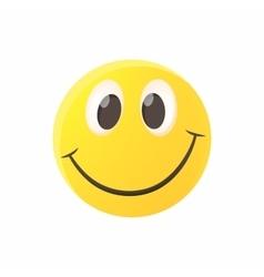 Smiling emoticon icon cartoon style vector image vector image