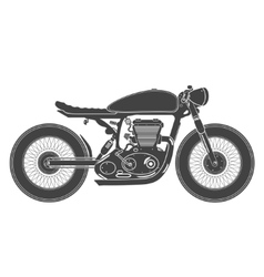 vintage motorcycle cafe racer theme vector image vector image