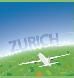 zurich flight destination vector image vector image