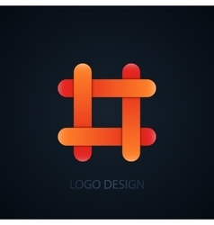 abstract business logo vector image vector image