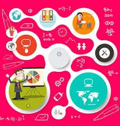 Circle Infographics and Web Design Template vector image vector image