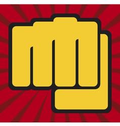 fist-human hand punching vector image