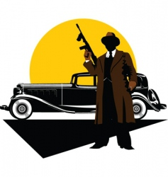 gangster car vector image vector image