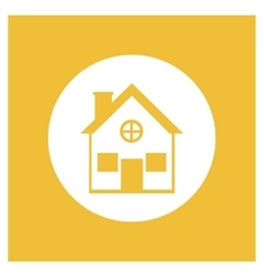 Real state residential house vector