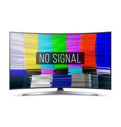 test color glitch screen digital no signal vector image vector image