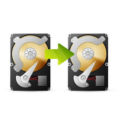 Backup data from HDD vector image vector image