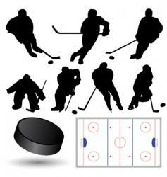 ice hockey players vector image