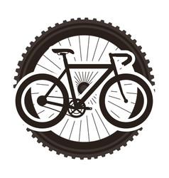 racing bicycle with wheel vector image
